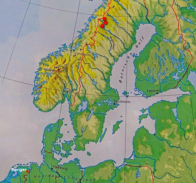 Kaart NW-Europa Sorselegraniet
