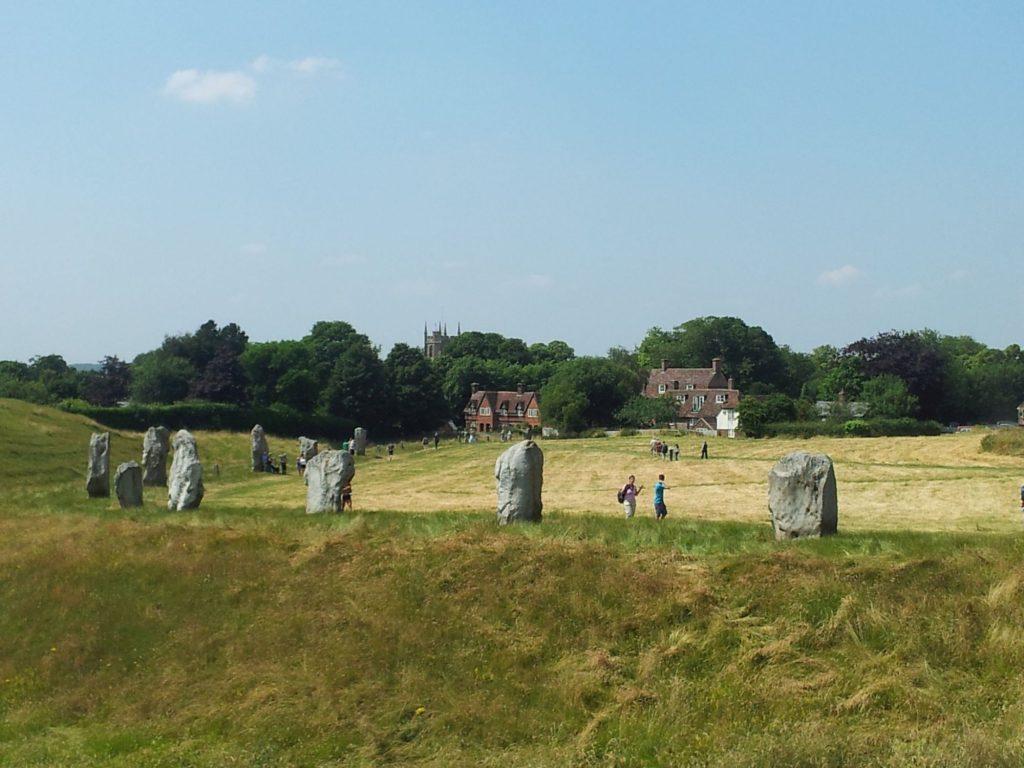De steencirkel van Avebury
