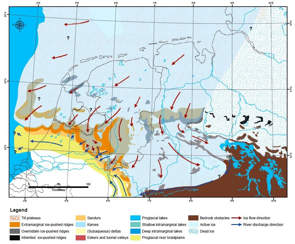 Pierik fase 3 maximale ijsuitbreiding Saalien