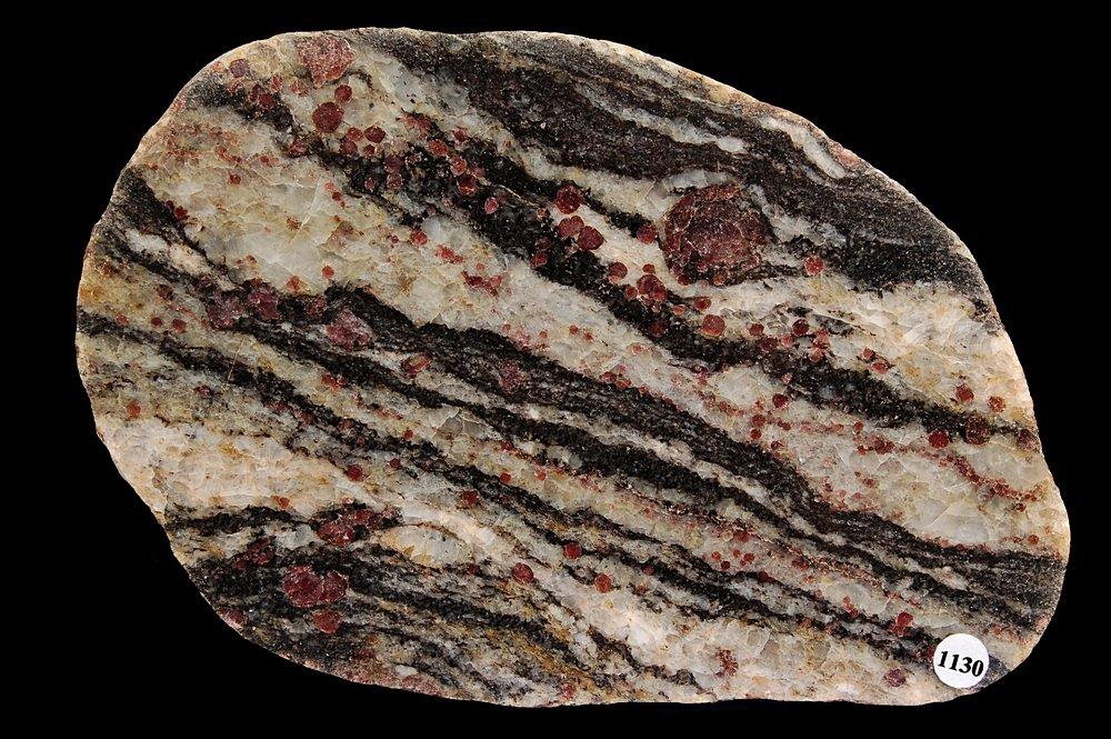 Migmatietgneis met granieten - Johannistal, Dld