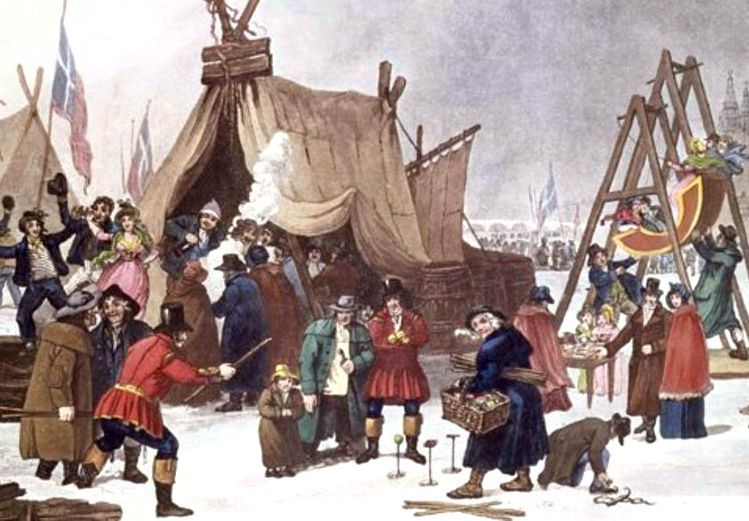 It is 200 years ago since the last frost fair - an impromptu festival on a frozen Thames, complete with dancing