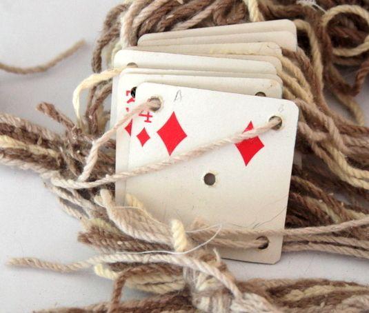 afb4 weven met speelkaarten