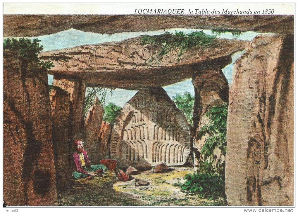 Prehistoric monuments in brittany - Locmariaquer table des marchands ...