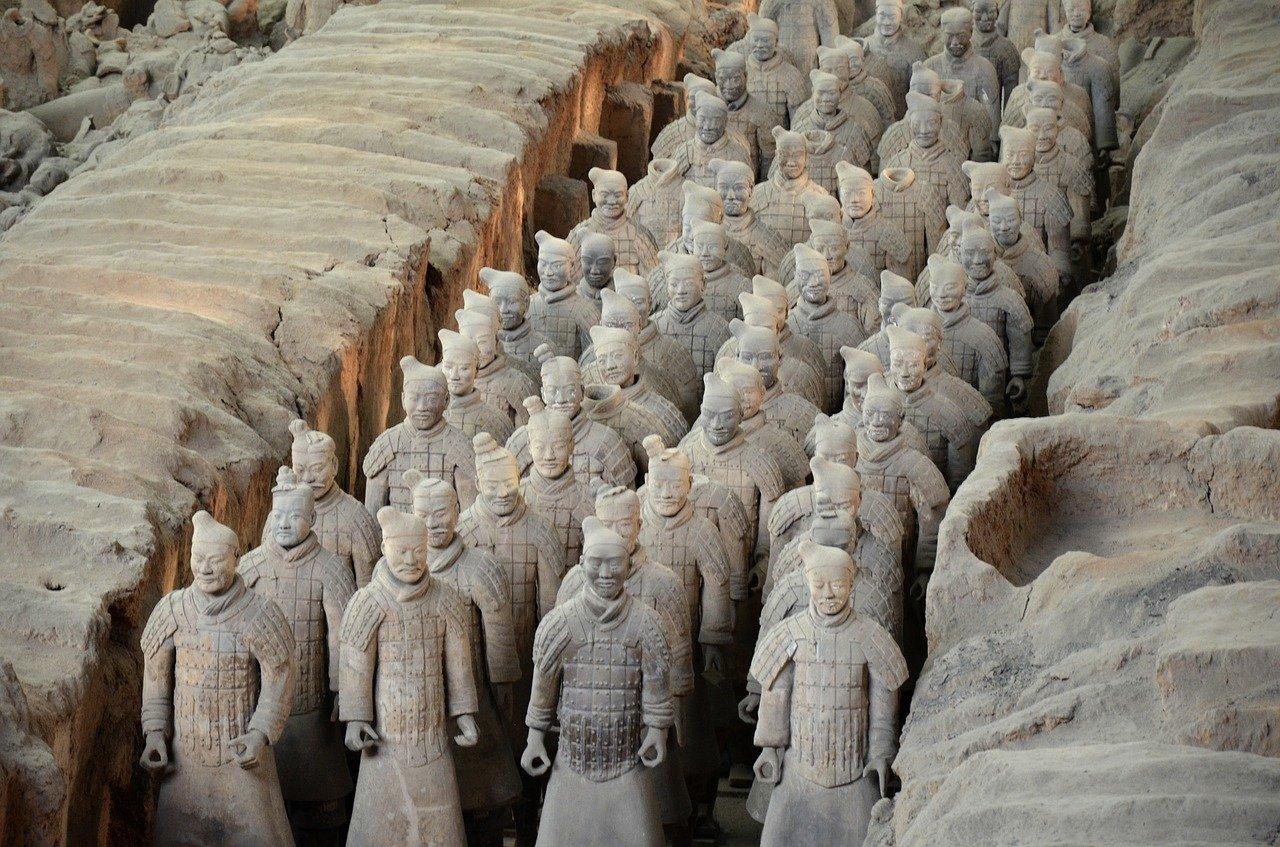 Het terracotta leger van China