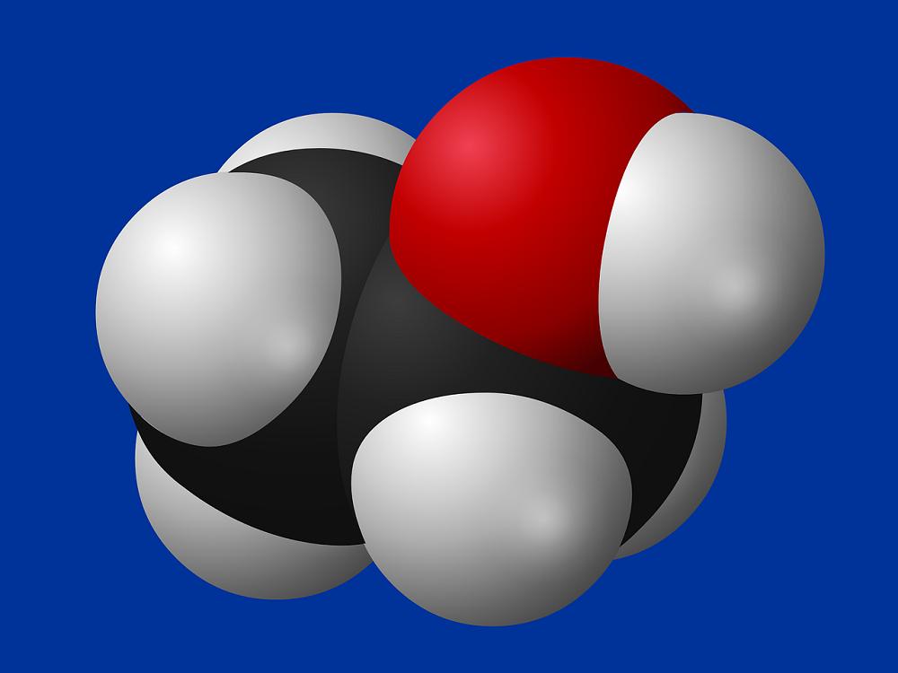 Molecuul van ethanol.